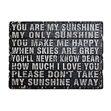 You Are My Sunshine Textual Art