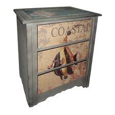 3 Drawer Coastal Cabinet