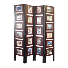 "67"" x 54"" Oscar Picture Folding Screen 4 Panel Room Divider"