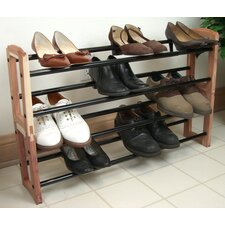 Expandable Stacking Cedar Shoe Rack