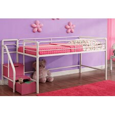 Junior Twin Loft Bed with Storage Steps
