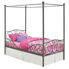 Twin Canopy Metal Bed