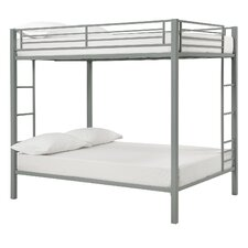 Full Over Full Bunk Bed with Built-In Ladder