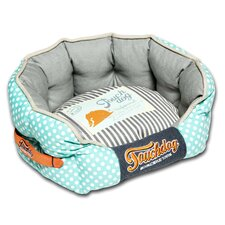Polka-Striped Polo Rounded Fashion Dog Bed