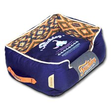 70's Vintage-Tribal Throwback Diamond Patterned Ultra-Plush Rectangular-Boxed Dog Bed