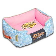 Rose-Pedal Patterned Premium Rectangular Dog Bed