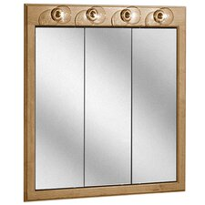 "Salerno Series Lighted 30"" x 33"" Surface Mount Medicine Cabinet"