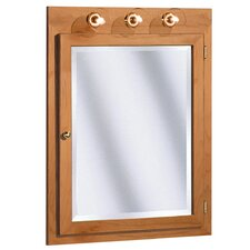 "Salerno Series Lighted 24"" x 32"" Surface Mount Beveled Edge Medicine Cabinet"
