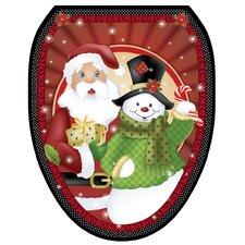 Polka Dot Christmas Toilet Seat Decal