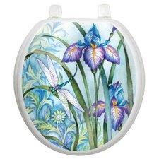 Themes Iris Beauty Toilet Seat Decal