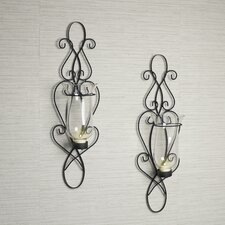 Baroque Iron Sconce Set (Set of 2)