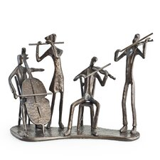 Musician Quartet on Base Sculpture