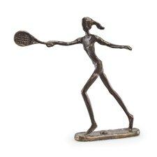 Female Tennis Player Figurine