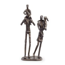 Parents Carrying Children Figurine