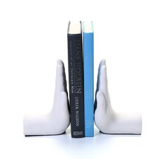Hand Stop Bookend (Set of 2)