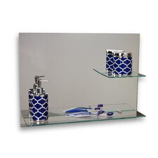 Sofia Frameless Bathroom Mirror with Shelves