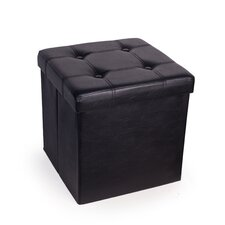 Upholstered Folding Storage Ottoman