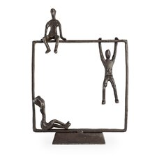 Playful Kids on Frame Bronze Sculpture