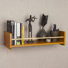 Floating Shelf with Metal Railing