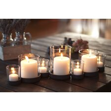 8 Piece Bubbles Iron & Glass Candle Holder Set