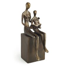 Woman and Child Reading Figurine