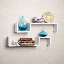 "Decorative ""S"" Shaped Wall Shelf (Set of 2)"