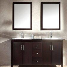 "Hanson 60"" Double Sink Vanity Set with Mirror"