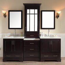 "Stafford 85"" Double Sink Vanity Set with Mirror"