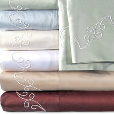 Supreme Sateen 500 Thread Count Scroll Pillowcase (Set of 2)