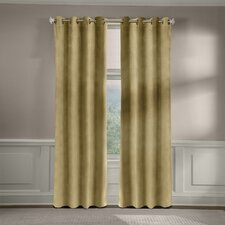 Velvet Soft Luxury Grommet Curtain Panel