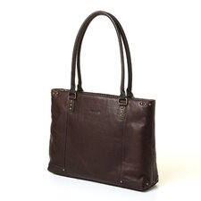 Vintage Leather Laptop Carry Tote Bag