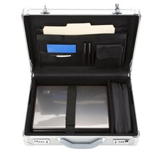 "Classic 18"" Laptop Titanium Attache Case"