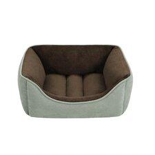 Faux Suede Reversible Rectangular Cuddler Bolster Dog Bed