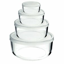 Frigoverre 8 Piece Round Food Storage Container Set