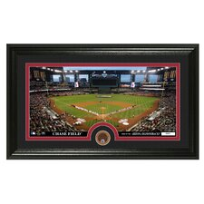 MLB Infield Dirt Coin Panoramic Photo Mint Framed Memorabilia