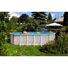 """Aqua Mate by Trevi Oval 52"""" Deep Sunscape Above Gound Pool"""