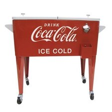 80-Qt. Coca-Cola Ice Cold Heavy Duty Rolling Cooler