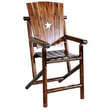 Char-Log Cut Out Star Bar Arm Chair II