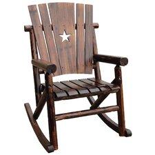Char-Log Cut Out Star Single Rocking Chair I