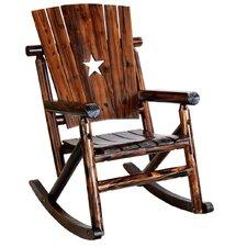 Char-Log Cut Out Star Single Rocking Chair II
