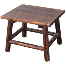 Char-Log Square End Table I
