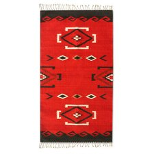 Navajo Zapotec Red Area Rug