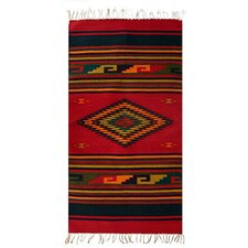 Natures Colors Zapotec Red Area Rug