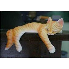 Snoozing Ginger Tabby Figurine
