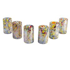 Javier and Efren Artisan Teerasak Chaiwong Artisan Blown Carnival Glass (Set of 6)
