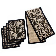 Liem Hauw Artisan Natural Fibers Table Runner and Placemats (Set of 5)