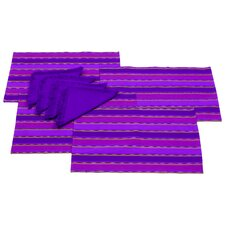 Komon Utzil Artisan 8 Piece Zunil Inspiration Placemat and Napkin Set (Set of 8)
