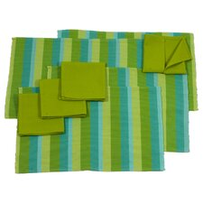 Yama Aj Chixot Artisan Group Casaca Morn Placemat and Napkins (Set of 8)