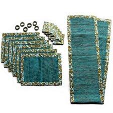 Andrea Philips and Nyoman Suma Artha Artisan Cotton and Natural Fibers Table (Set of 19)