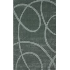 Gradient Loops Light Grey Area Rug